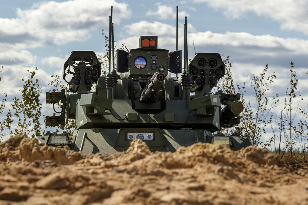 Минобороны на учениях «Запад-2021» впервые применило роботов «Уран-9» и «Нерехта»